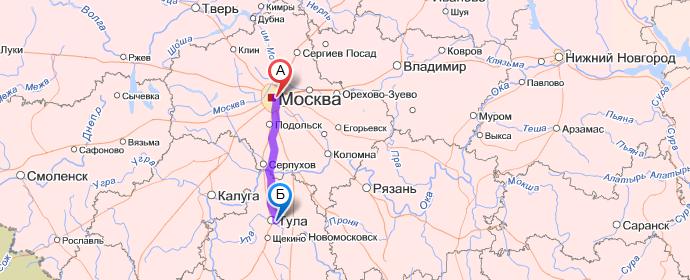 Карта россии где находится тула